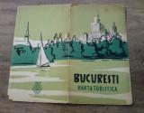 Bucuresti, harta turistica/ ONT Carpati 1957