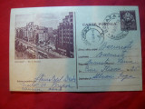 Carte Postala Ilustrata Bucuresti - Bl. N.Balcescu circulat 1956 -pe maron, Circulata, Printata