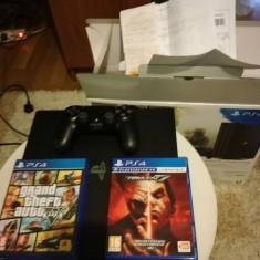 PlayStation 4 Sony Pro HDD 1 TB, in garantie 2 ani + Gta V si Tekken 7