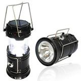 FELINAR + Lanterna solara 6+1 LED LAMPA pliabila CAMPING PESCUIT 220V USB - Corp de iluminat, Lampi solare