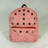 Rucsacel dama roz cu capse+CADOU - Rucsac dama