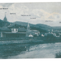 2719 - Bucovina, Suceava, VATRA DORNEI, Railway Station - old postcard - unused - Carte Postala Bucovina 1904-1918, Necirculata, Printata