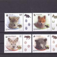 PUI DE ANIMALE, SERIE COMPLETA CU VIGNETA PE DREAPTA, 2012, MNH, ROMANIA. - Timbre Romania, Fauna, Nestampilat