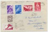 ROMANIA 1961 plic cu serie al II-lea om in Cosmos - Titov - spre Austria