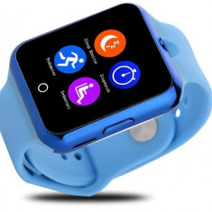 Ceas Smartwatch cu Telefon iUni V88, 1.22 inch, BT, 64MB RAM, 128MB ROM, Albastru + Spinner Titirez Cadou