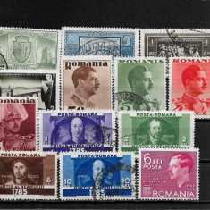 Lot timbre Romania, Stampilat