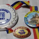1 DECEMBRIE 1918 ZIUA NATIONALA A ROMANIEI - LOT DE 3 INSIGNE - Insigna