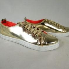 Pantofi/tenesi dama aurii metalici marime 37, 38, 39+CADOU - Tenisi dama, Culoare: Din imagine