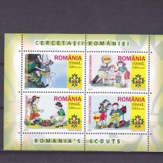 CERCETASII ROMANIEI,BLOC,2005,MNH,ROMANIA.
