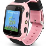 Ceas GPS Copii iUni Kid530, Touchscreen, Telefon incorporat, BT, Camera, Buton SOS, Roz - Smartwatch