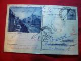 CP Ilustrata -Buc. -Bl.Balcescu 1955,cu stamp si Invitatie a Filialei Vanatori, Circulata, Printata