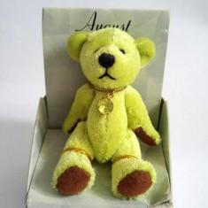 Jucarie urs mic, ursulet verde, in cutie, cadou pt cei nascuti in August, 7cm - Jucarii plus