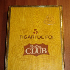 ( Cutie  trabucuri  )PACHET  5  TIGARI  DE   FOI  - INTIM CLUB  -  ANII 70