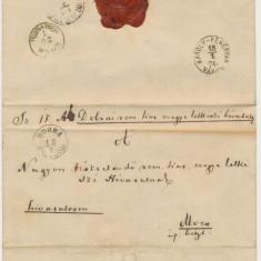Austria & Ungaria Transilvania Romania plic oficial Dobra spre Cluj Mociu 1874