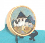 Tablou ceramica de studio UNICAT emailat pictat manual - Nis Stougaard Svaneke