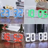 Ceas de birou cu leduri 3D si alarma.