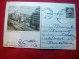 Carte Postala Ilustrata Bucuresti - Bl. N.Balcescu circulat 1957 -pe gri-negru, Circulata, Printata