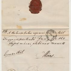 Austria & Ungaria Transilvania Romania plic oficial Cluj spre Mociu 1874