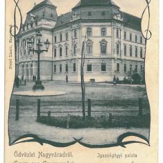 2743 - L i t h o, ORADEA - old postcard - used - 1901 - Carte Postala Crisana pana la 1904, Circulata, Printata
