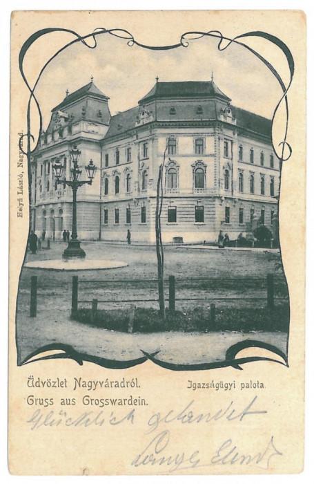 2743 - L i t h o, ORADEA - old postcard - used - 1901