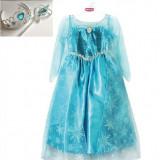 Rochie + set bagheta, coronita printesa ELSA 3-6 ani (Frozen/Regatul de Gheata) - Costum petrecere copii Altele