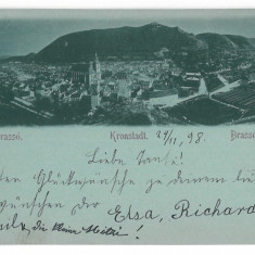 2901 - Litho, BRASOV - old postcard - used - 1898 - Carte Postala Transilvania pana la 1904, Circulata, Printata