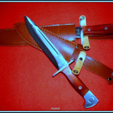 Cutit baioneta 34, 5 cm inscriptionat AK-47 CCCP - Briceag/Cutit vanatoare