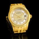 Ceas Automatic - Ceas de LUX -  Ceas de Dama LOBOR GOLD,  WATER RESISANT :3 ATM