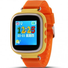 Ceas GPS Copii iUni Kid90, Telefon incorporat, Buton SOS, BT, LCD 1.44 Inch, Orange + Spinner Titirez Cadou - Smartwatch