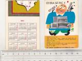bnk cld Calendar de buzunar 1971 - Radio Eforie si Traviata - eroare tipar