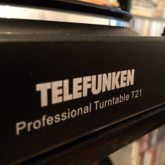 Pick-up TELEFUNKEN PROFESSIONAL TURNTABLE model T21 cu USB - Impecabil/Germany - Pickup audio