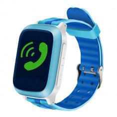 Ceas GPS Copii iUni Kid18, Telefon incorporat, Alarma SOS, 1.44 Inch, Blue + Spinner Titirez Cadou