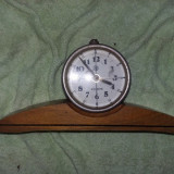 Ceas vechi functional, 4 rubine VICTORIA, ceas de colectie talpa LEMN, Tp. GRATUIT - Ceas de masa