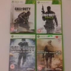 LOT 4 Jocuri CALL OF DUTY - XBOX 360 [Second hand] - Jocuri Xbox 360, Shooting, 18+, Single player