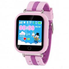 Ceas GPS Copii iUni Kid601, Telefon incorporat, Alarma SOS, 1.54 Inch, Touchscreen, Jocuri, Pink + Spinner Titirez Cadou - Smartwatch