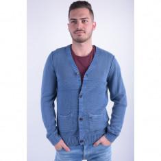 Cardigan Outfitters Nation Orban Slim Fit Insigne Blue - Pulover barbati, Marime: L, Culoare: Albastru