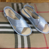 Sandale dama argintii cu sclipici marime 37, 38, 39+CADOU