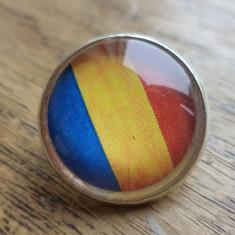 Brosa/insigna steag tricolor Romania