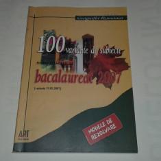 GEOGRAFIA ROMANIEI 100 VARIANTE DE SUBIECTE PENTRU EXAMENUL DE BACALAUREAT - Carte Teste Nationale