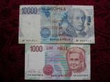 1000 LIRE 1990 ; 10000 LIRE 1984 LOT