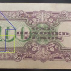 Bancnota istorica 100 Pesos FILIPINE INVAZIE JAPONEZA, anul 1942 *Cod 586 A.UNC - bancnota asia