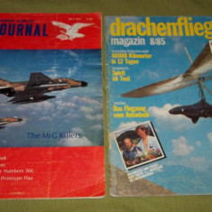 Doua reviste aviatie Armed Forces Journal 1972 si Drachenflieger 1985