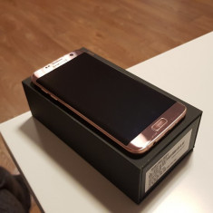 Telefon Samsung Galaxy S7 Edge Pink Gold, Roz, 32GB, Neblocat, Single SIM