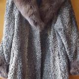 Palton astrahan - Palton dama, Marime: 46, Culoare: Gri