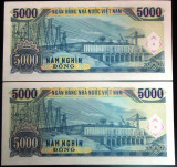 Lot/Set Bancnote 5000 Dong- VIETNAM 1991 SERII CONSECUTIVE/NECIRCULATE * Cod 591