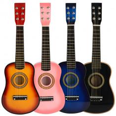 PROMOTIE!CHITARA CU 6 COARDE PENTRU COPIII, DIN LEMN, CADOUL MINUNAT, NOUA IN CUTIE - Instrumente muzicale copii