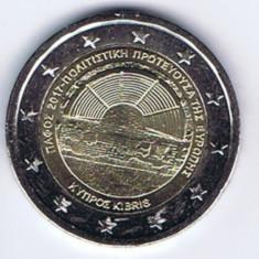 CIPRU moneda 2 euro comemorativa 2017, UNC