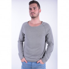 Pulover Selected Grot Crew Neck Light Grey Melange - Pulover barbati Selected, Marime: L, Culoare: Gri