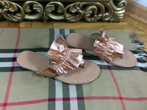Papuci dama aurii marime 37,  40+CADOU
