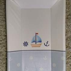 Blat de infasat cu intaritura si capat inchis Marine 80x50 cm - Masa de infasat copii, Alb